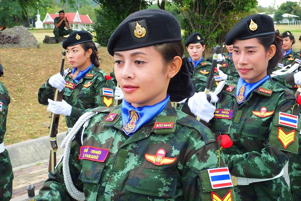 Thai army Ladies Display Team.