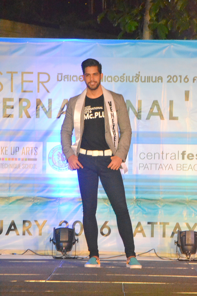 Mister International contestant from Venezuela impresses the judges to accumulate points for the finals to take place in Bangkok.