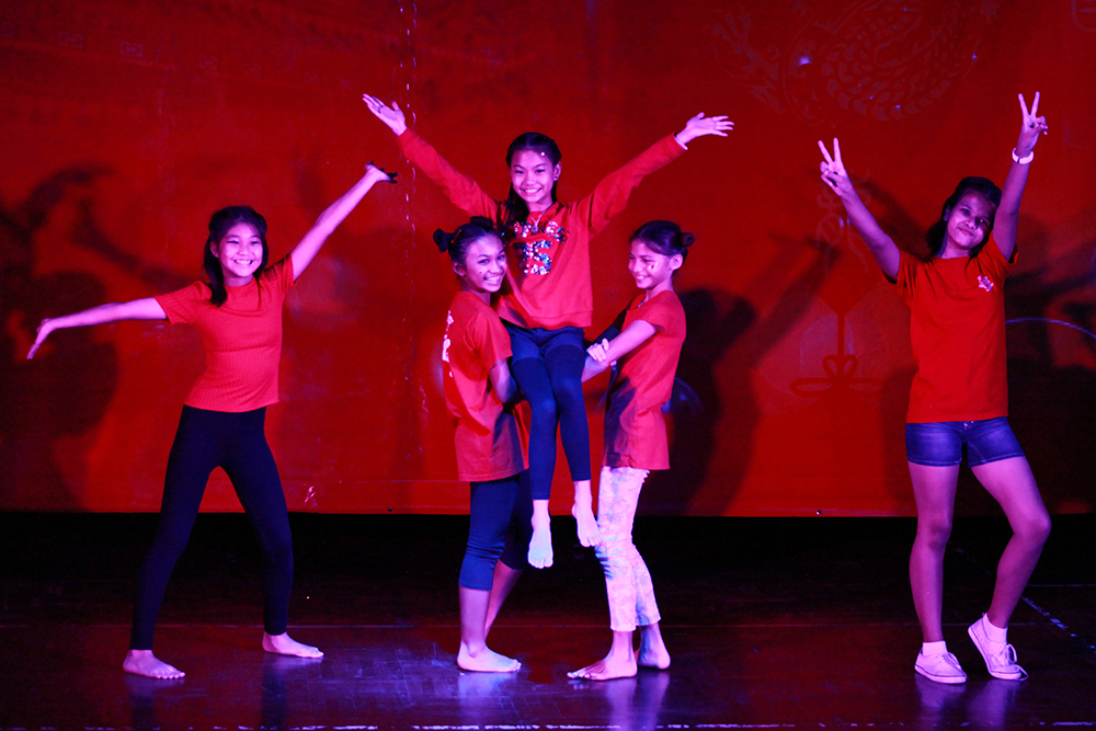 Year 7 students danced to a Chinese pop song.