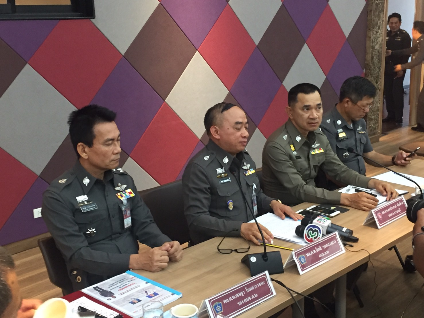 Pol. Lt. Gen. Jithi Rodbangyang, commander of Region 2 Police, announces the Safety Zone project to make Pattaya a safer place.