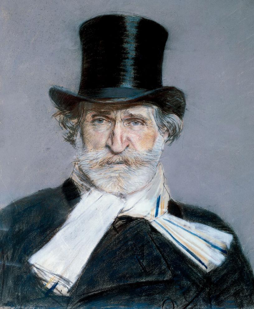 An 1886 portrait of Verdi by Giovanni Boldini.