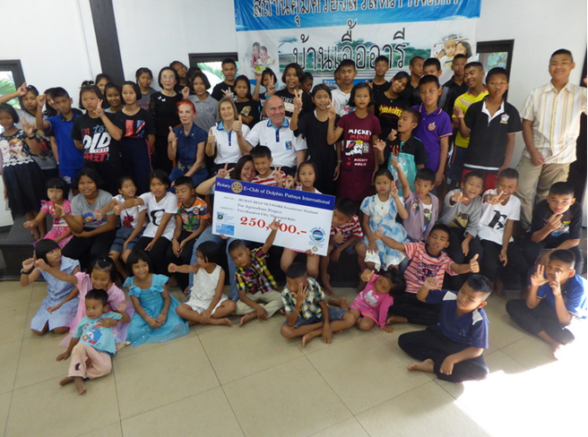 A longtime wish of the Human Help Network Thailand center, the small farm finally became a reality Feb. 12 with a 250,000-baht donation from Rotary International.