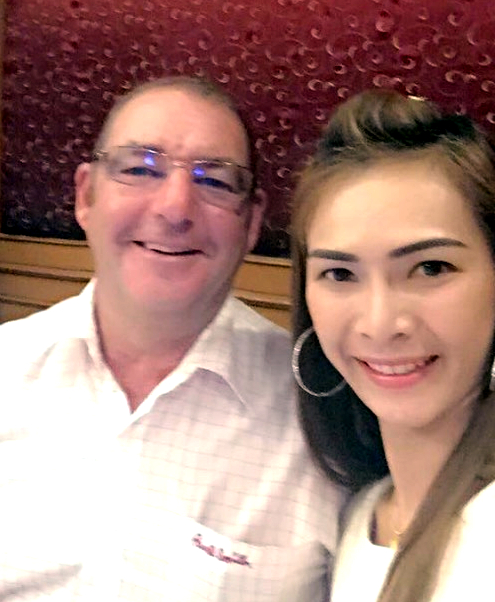 Mick Beresford (left) with his wife Ning.