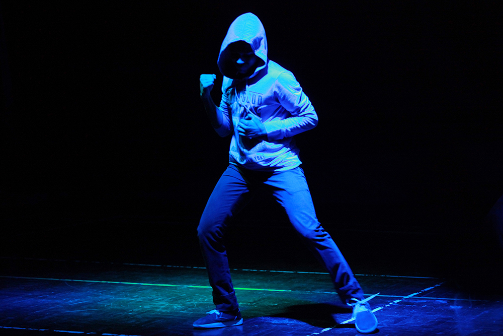 Hip-hop dancing kicked off the talent show.
