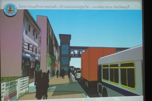 An artist's sketch of what one side of the pedestrian bridge might look like once completed.