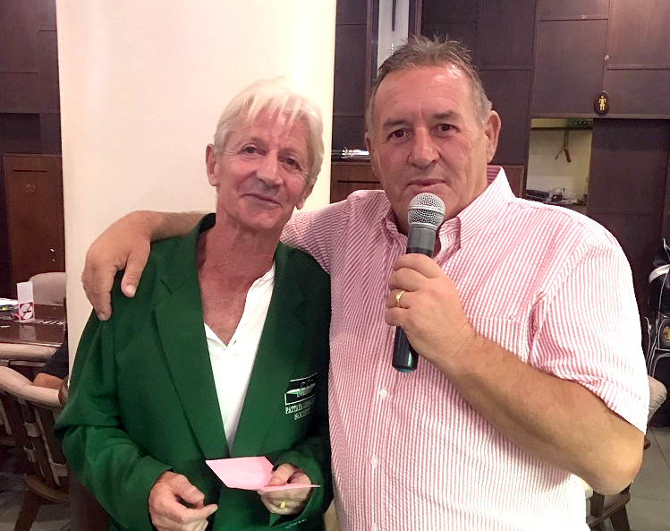 Patrick Poussier (left) with Phil Davies.