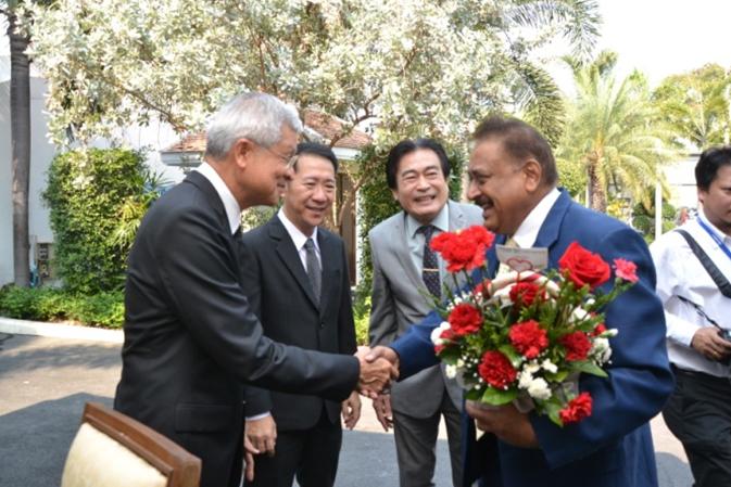 (From left) Pattaya Deputy Mayor Apichart Virapal, District Chief Naris Miramaiwong, Former Deputy Mayor Ronakit Ekasingh and Peter Malhotra, MD of Pattaya Mail.