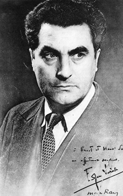 Edgard Varèse in 1931. (Portrait by Man Ray)