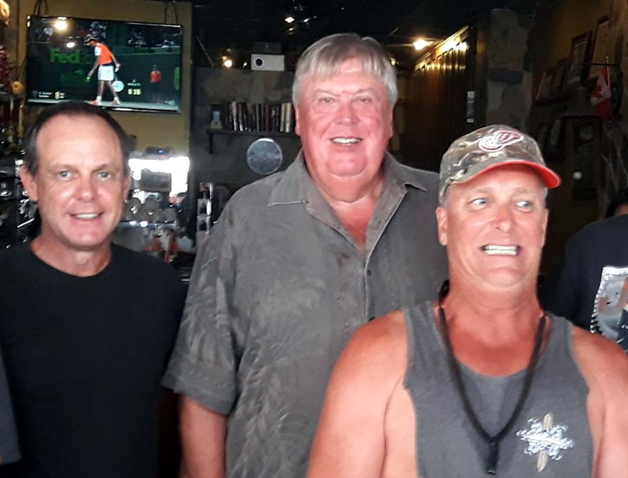 Bruce Miller, Peter Thomas & Doc Beard.