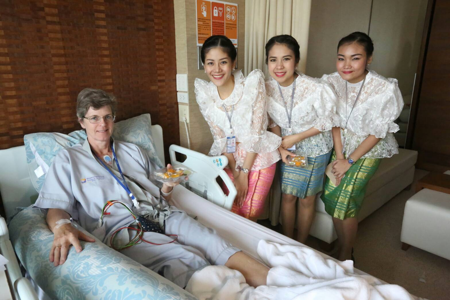 "Bangkok Hospital Pattaya brought some early Thai New Year's cheer to patients with free ""lucky"" sweets."