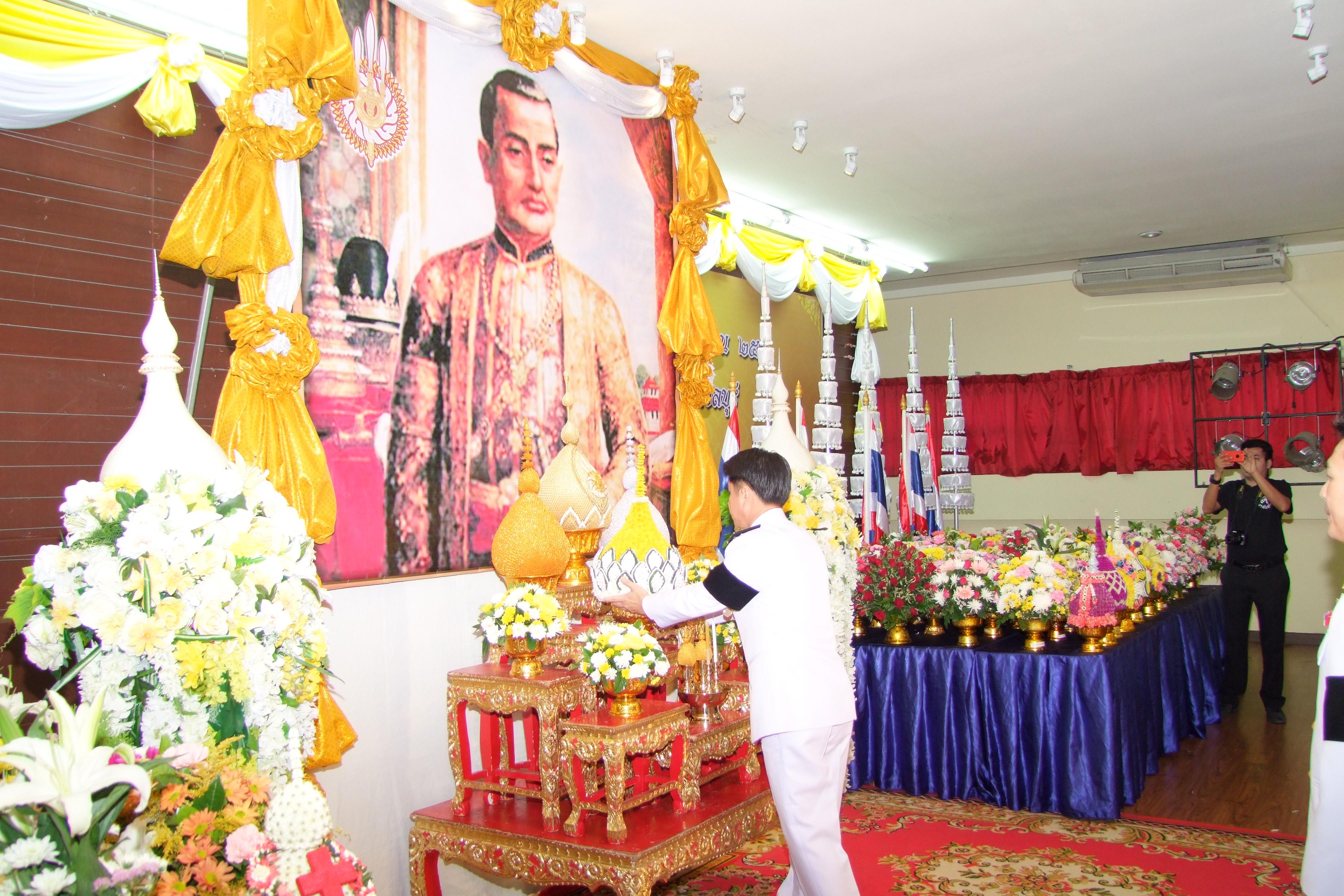 Chonburi Gov. Pakarathorn Thienchai led the province's Chakri Day celebration, honoring the founding of the current royal dynasty.