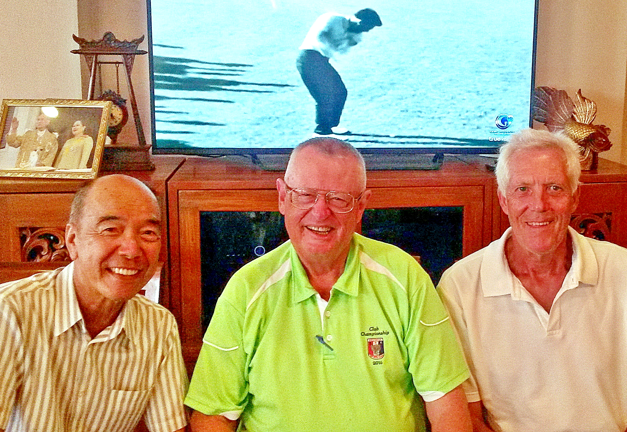 From left: Mashi Kaneta, Dick Warberg and Gordon Clegg.