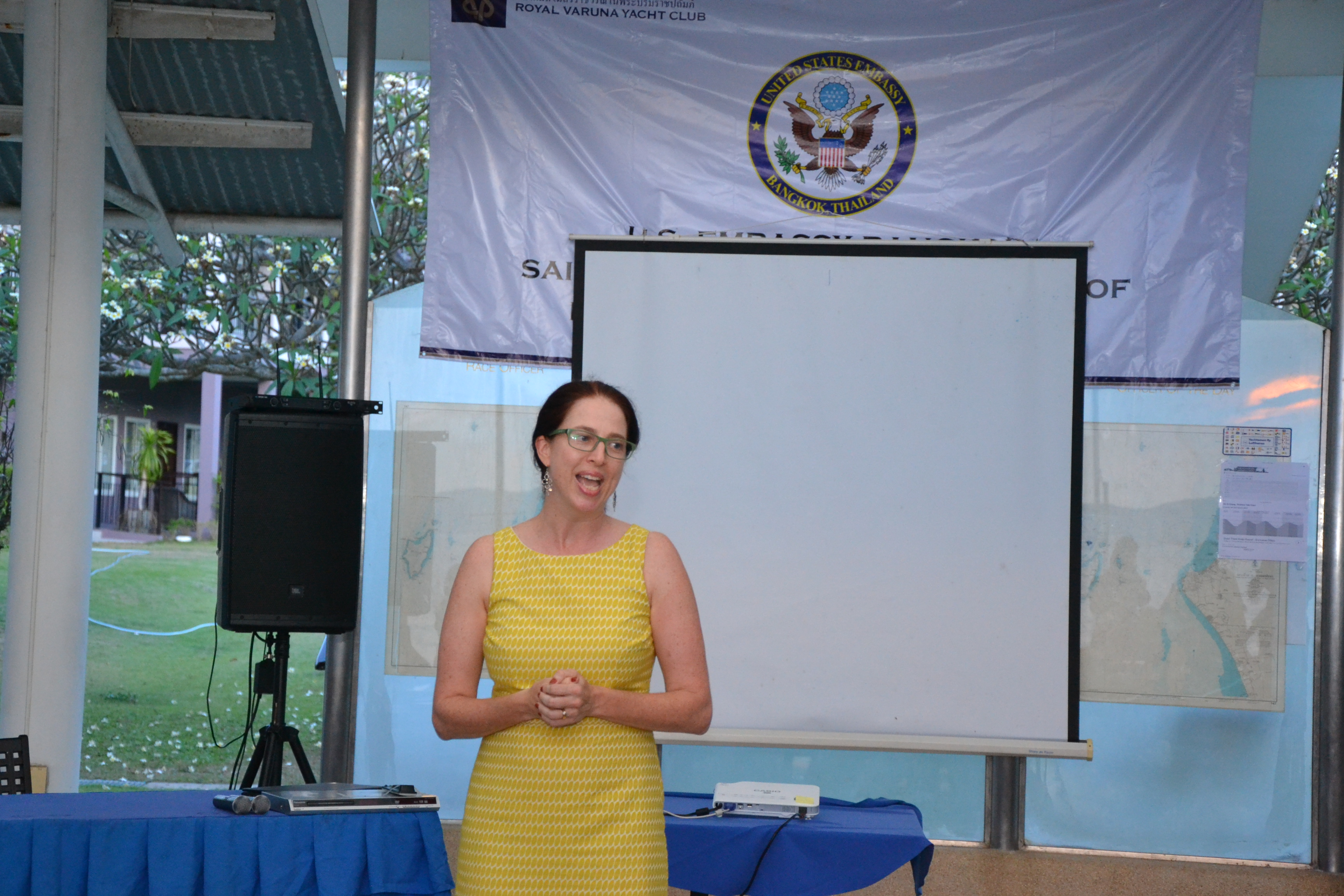 Anne Lee Seshadri, Cultural & Educational Officer of the US Embassy Bangkok welcomes the guests.