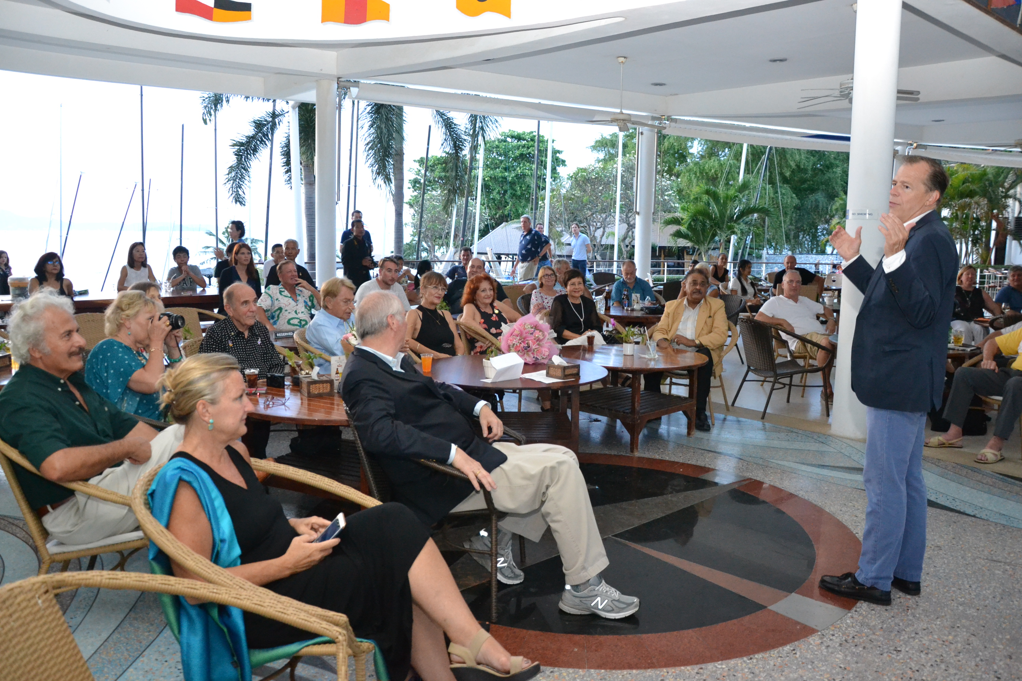 Ambassador Davies delivers his profound speech about HM the late King and Thailand in general.