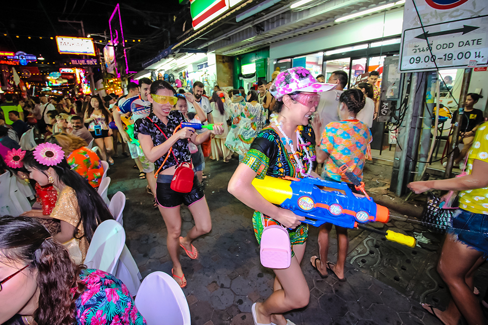 """The """"Wet and Cool the Thai Way"""" celebration is full of fun on Walking Street."""