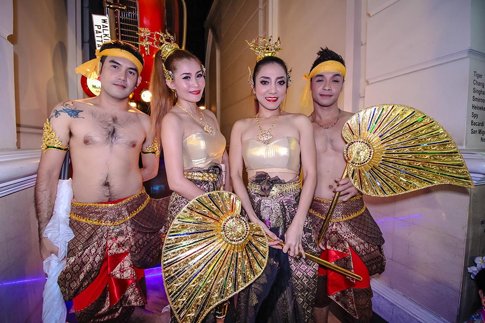 Traditional Thai Lanna dress pervades Walking Street.