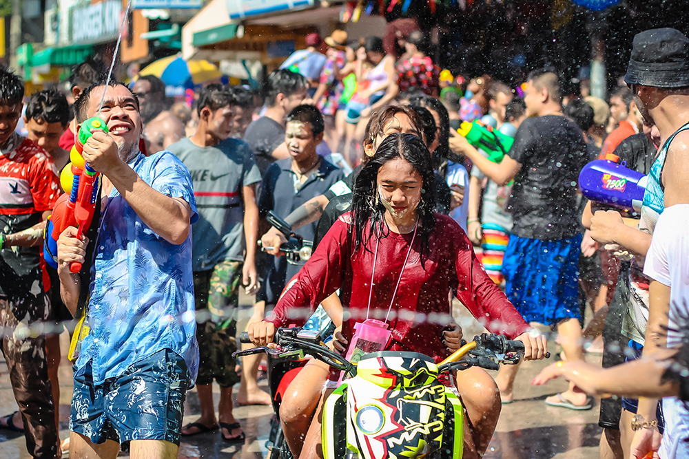Water wars show no mercy - and no helmets, either.