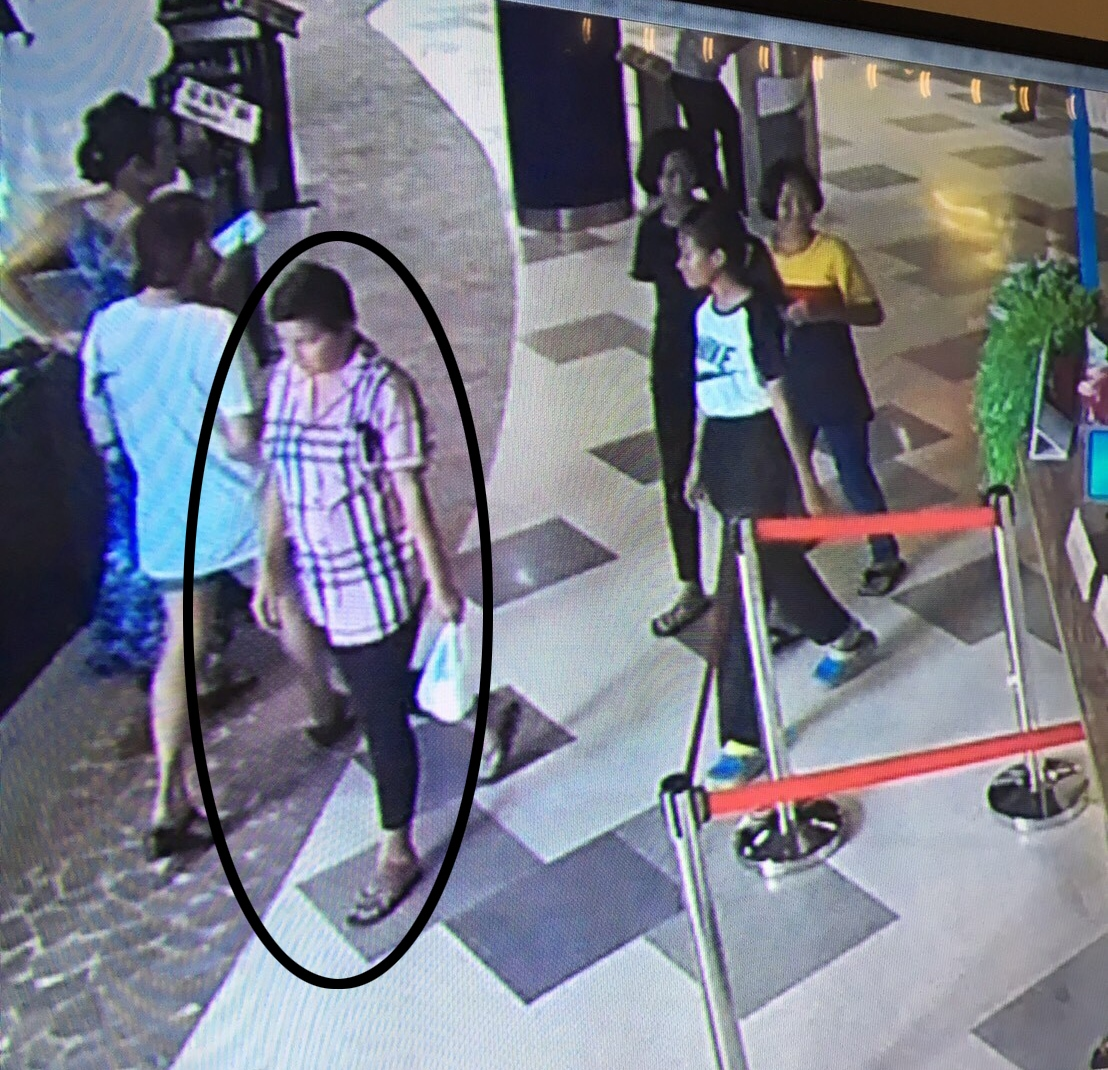 Police pulled security-camera footage from the mall to find the grifter.