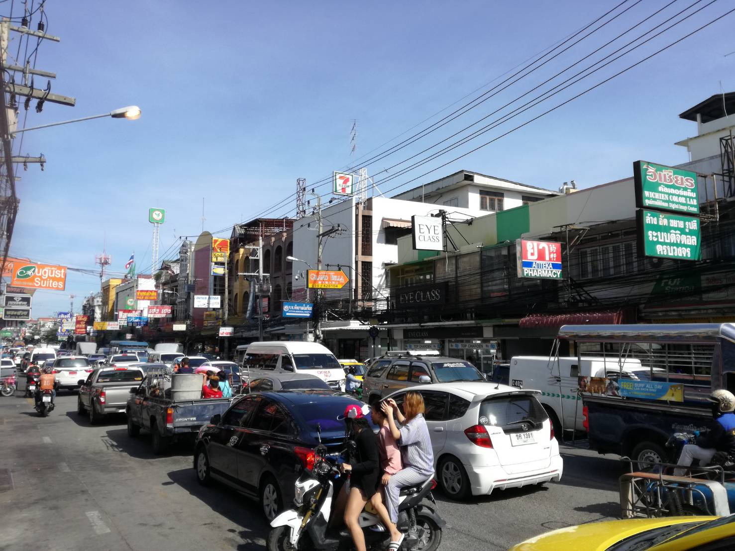 Traffic during Songkran was at a standstill throughout the long holiday.