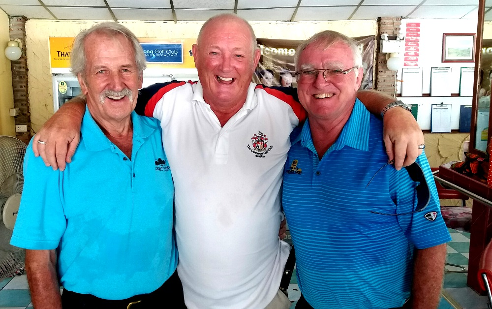 From left: William Macey with Graham Beaumont and Tony Oakes.