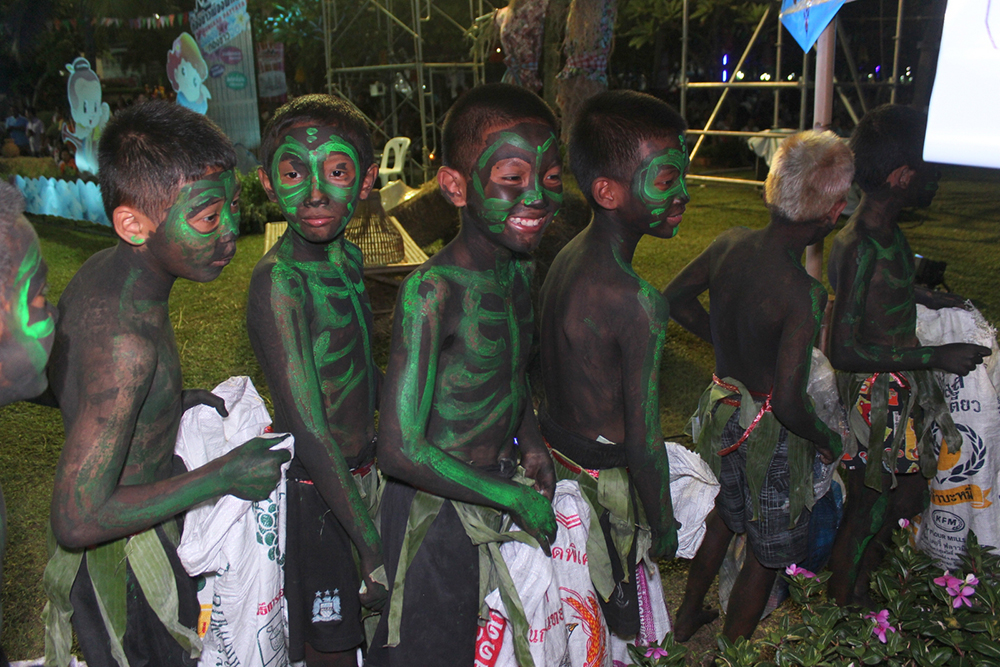 Youngsters take part in the tradition as ghosts & spirits.