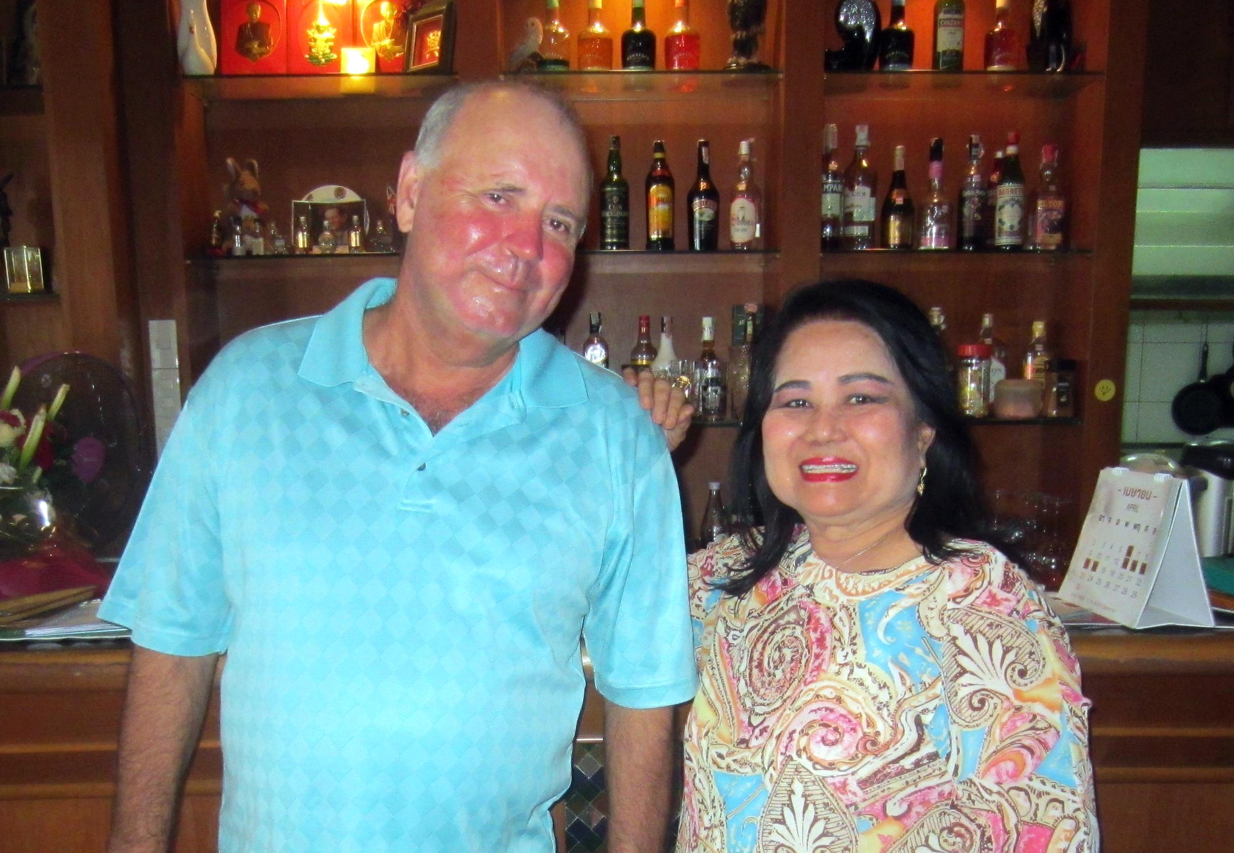Bob Watson celebrates with birthday girl Lek.