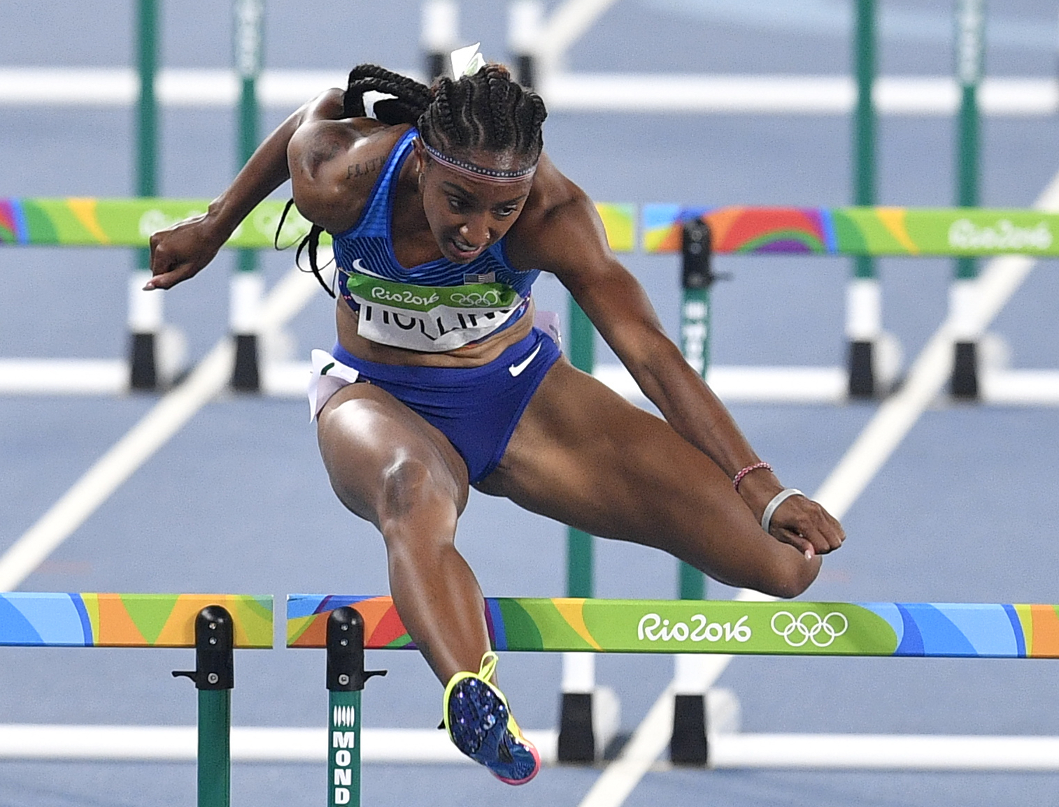 U.S. Olympic hurdle champion Brianna Rollins. (AP Photo/Martin Meissner)