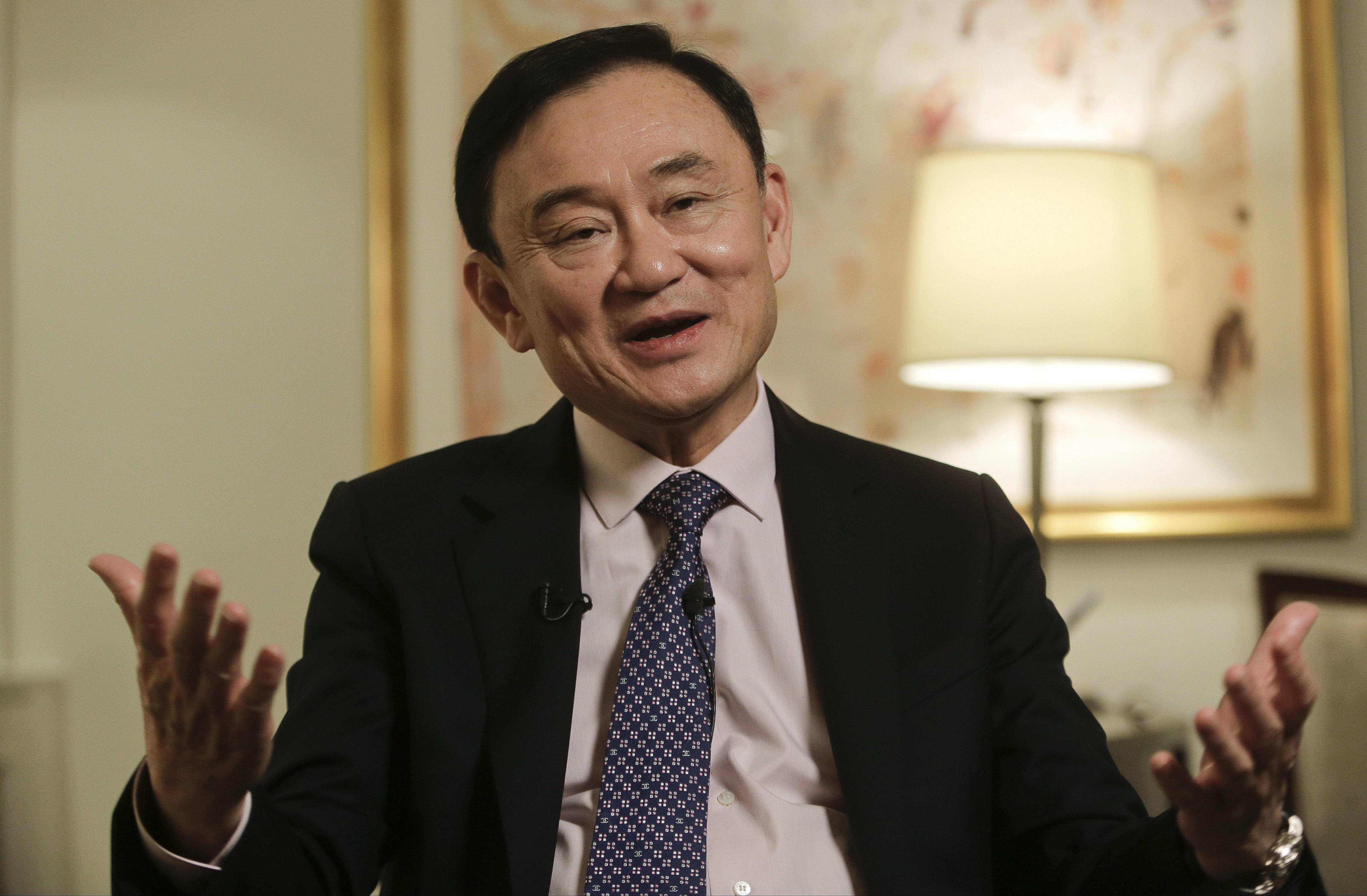 Thailand's former Prime Minister Thaksin Shinawatra. (AP Photo)
