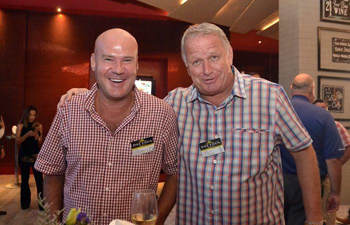The Pattaya Realty team consisting of Managing Director Stuart Daly and Nick Creasey.