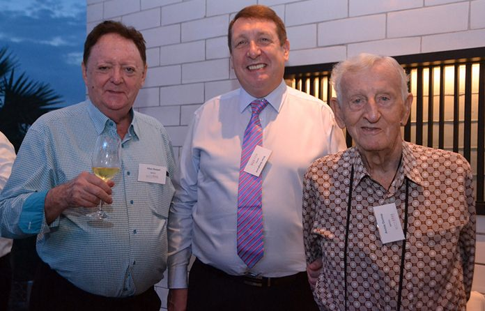 Allan Riddell, Consultant to the board at SATCC, Brian Songhurst and Archie Dunlop, South African Chamber of Commerce.
