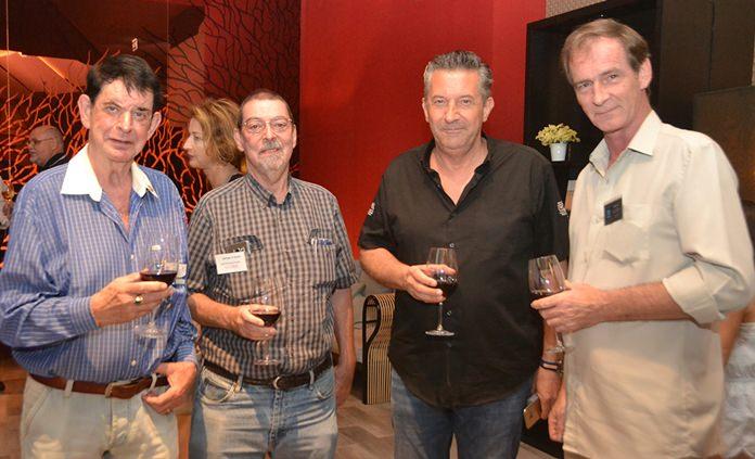 Dr William van Ewijk, Herman van Gucht, KC Cuijpers, Managing Partner Re/Max - Town & Country, and Tom Robson Fabulous 103.