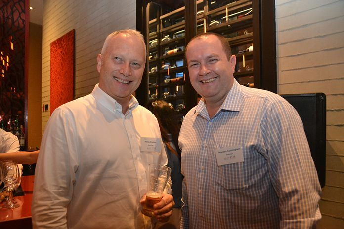 Philip Coates from BeLuThai and Brendan Cunningham from AustCham.