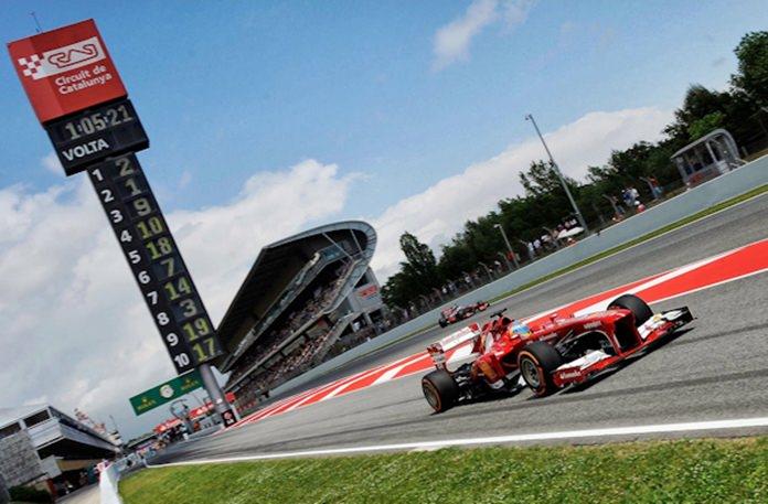 F1 in Spain.