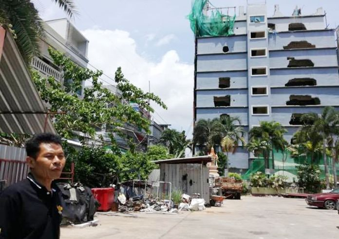 Demolition is set to continue on the illegally built Boutique Hotel on Soi VC.