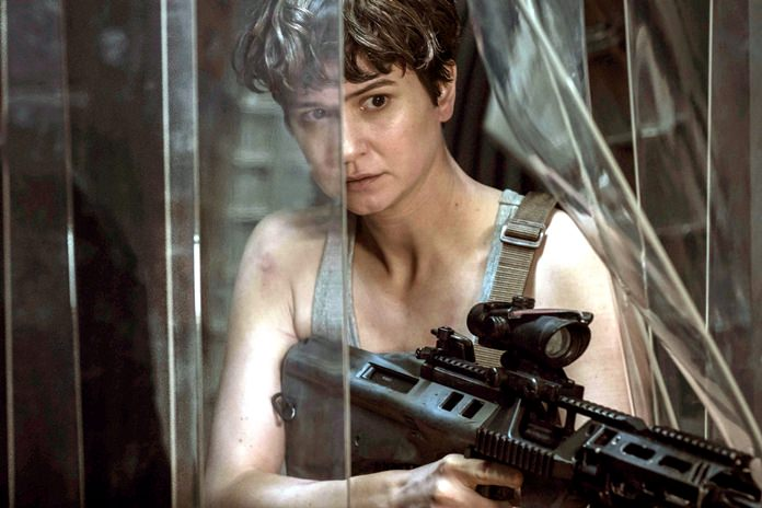 "This image shows Katherine Waterston in a scene from ""Alien: Covenant."" (Mark Rogers/Twentieth Century Fox via AP)"