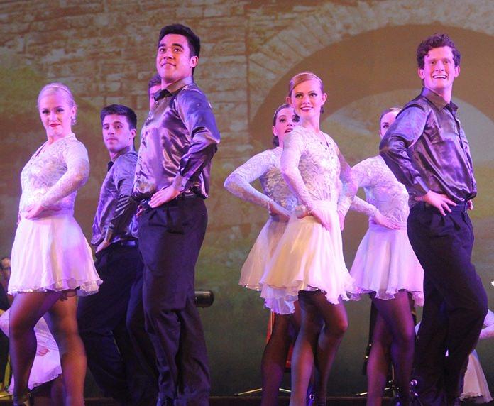 Irish hard shoe dancers.