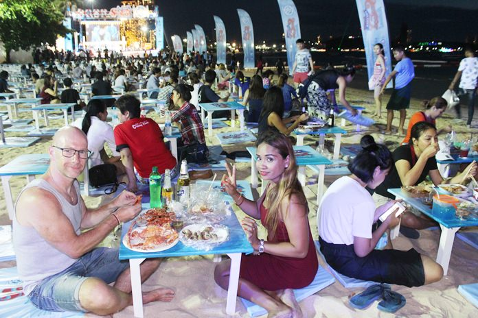 Pattaya tourists and locals were invited to eat until they burst while rocking to Thai pop at the Amazing Seafood Festival.