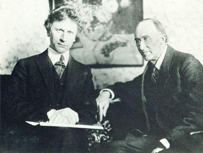 Percy Grainger (left) and Frederick Delius in 1923.