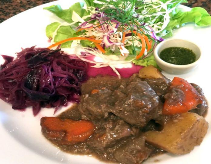 Delicious beef bourguignon at Yupin's Restaurant.