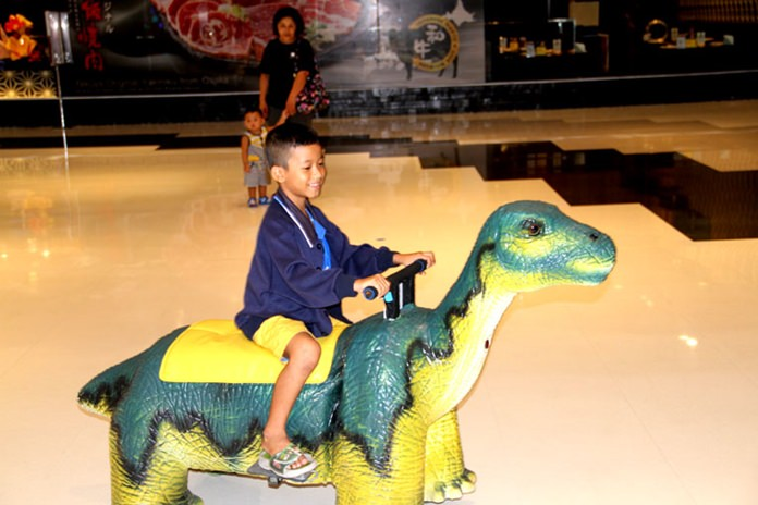 The younger ones enjoyed trying to run over spectators on motorised dinosaurs.