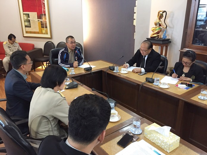 City Manager Wuthipol Charoenpol hosts a meeting to announce next week's Colors of East festival.