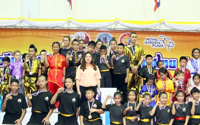 Young medalists pose for a group photo at the conclusion of the competition.