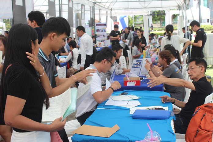 Thousands of job seekers looked for new career opportunities at Pattaya's annual job fair.