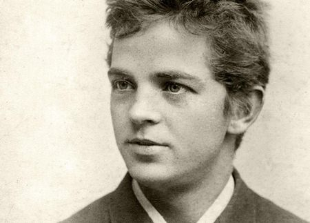 Carl Nielsen as a student in 1884.