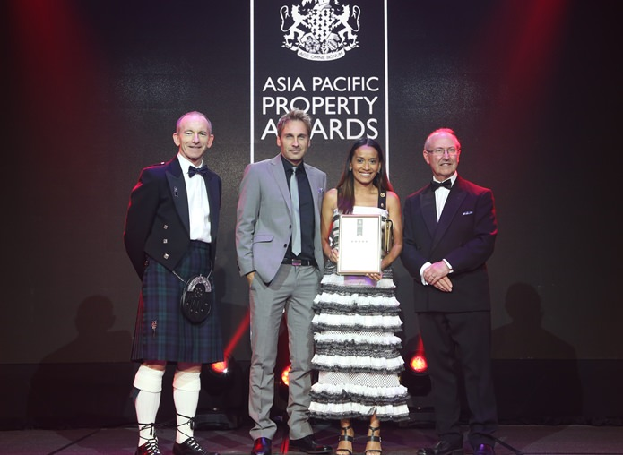 Winston and Sukanya Gale accept the 5 Star Award for Best Residential Development.