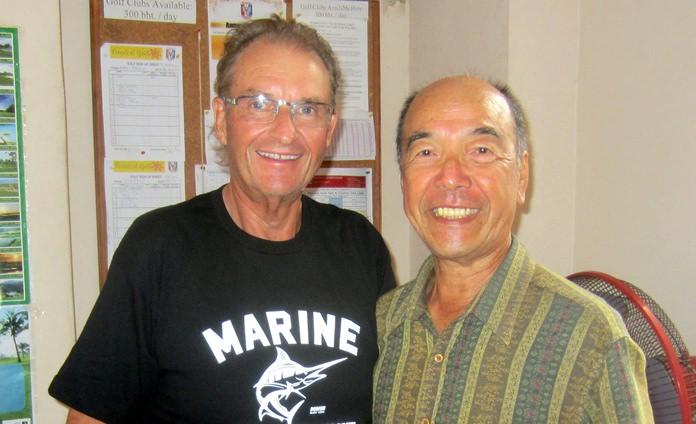 Andre Van Dyk (left) with Mashi Kaneta.