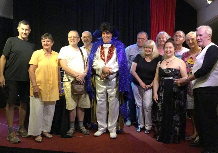 (From left) Gary Hougen, Pauline Elphick, Charles Elwin, Ray Lightbown, Ben Hansen, Tom Fletcher, Sue Tate, Jayne Jouai, Mara Swankey, Sheldon Penner, Wendy Khan and Tweed Harris at Ben's Theatre.