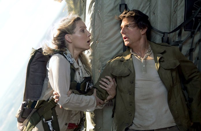"""Annabelle Wallis (left) and Tom Cruise are shown in a scene from """"The Mummy."""" (Chiabella James/Universal Pictures via AP)"""