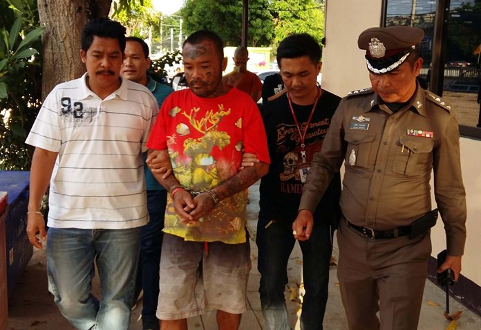 "Itthiphol ""Three Eyes"" Sai-en was arrested in Bang Saray for the bludgeoning death of Klisana Merakul."