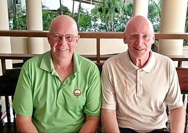 Brian Parish (left) with Graham Buckingham.
